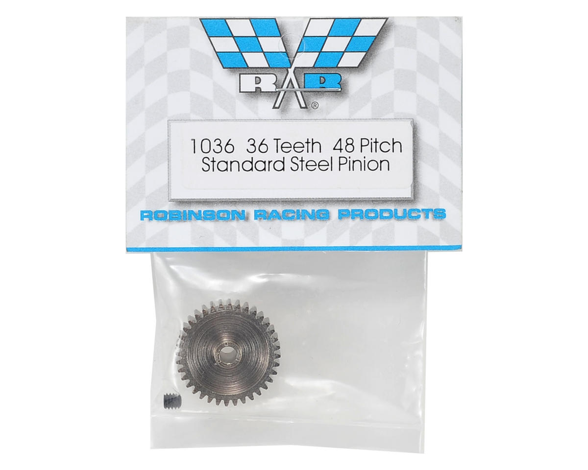 Steel 48P Pinion Gear (3.17mm Bore) (36T) by Robinson Racing