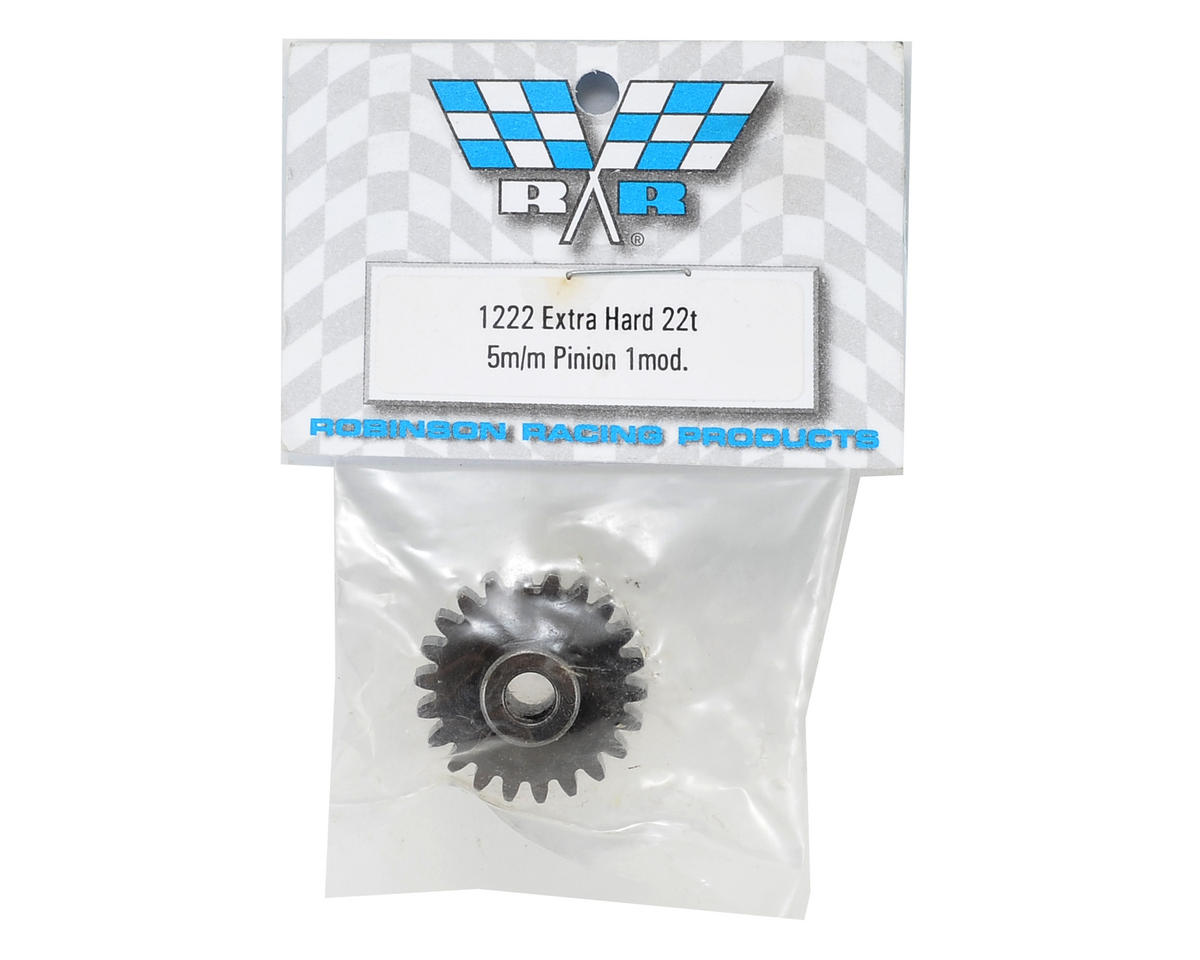Robinson Racing Extra Hard Steel Mod1 Pinion Gear w/5mm Bore (22T)