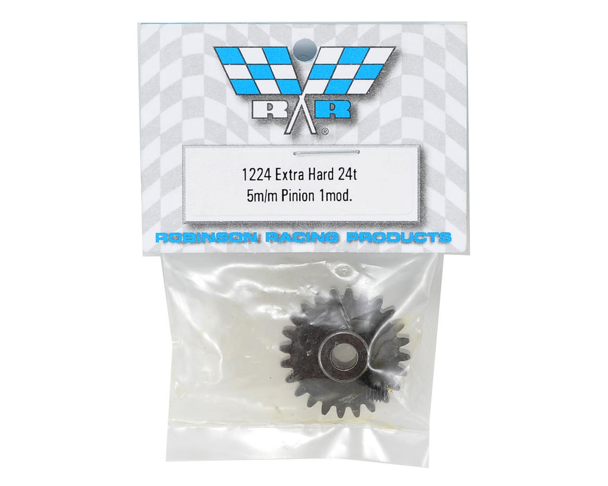 Robinson Racing Extra Hard Steel Mod1 Pinion Gear w/5mm Bore (24T)
