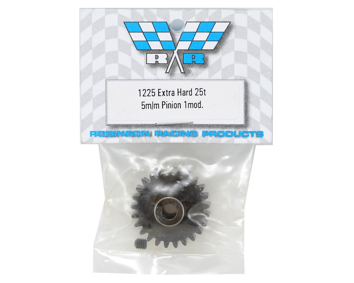 Robinson Racing Extra Hard Steel Mod1 Pinion Gear w/5mm Bore (25T)