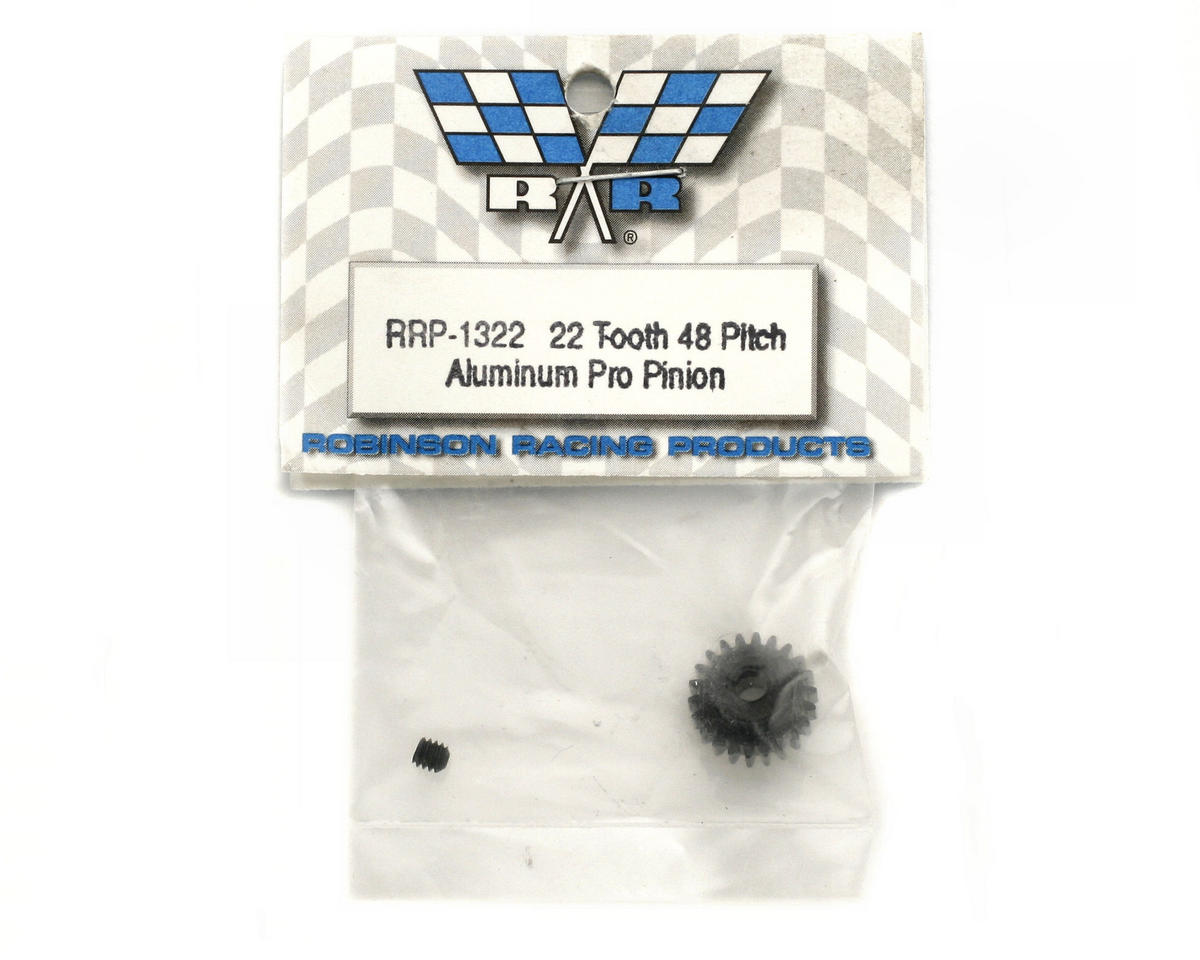 "Robinson Racing ""Aluminum Pro"" 48P Pinion Gear (3.17mm Bore) (22T)"
