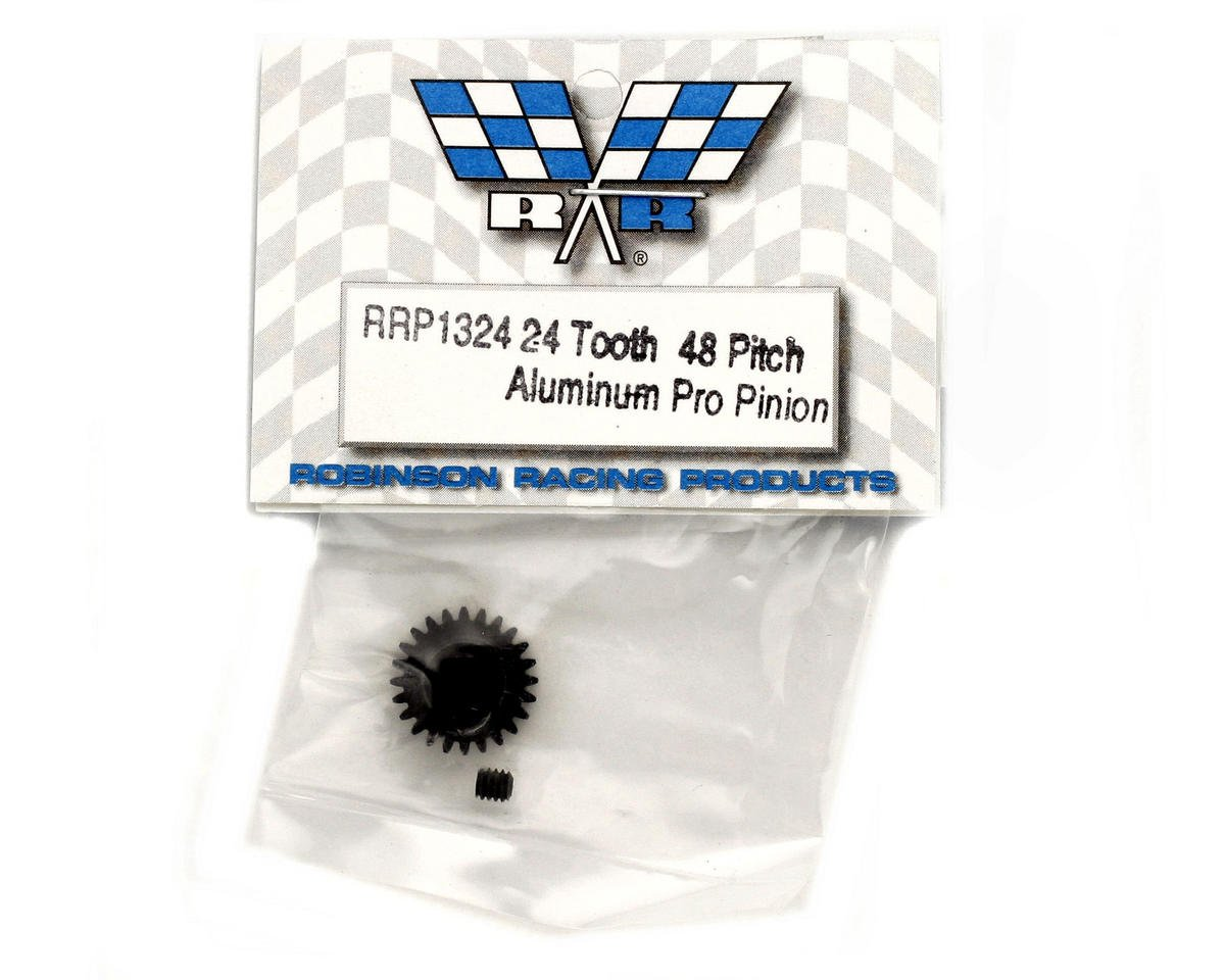 """Aluminum Pro"" 48P Pinion Gear (3.17mm Bore) (24T) by Robinson Racing"