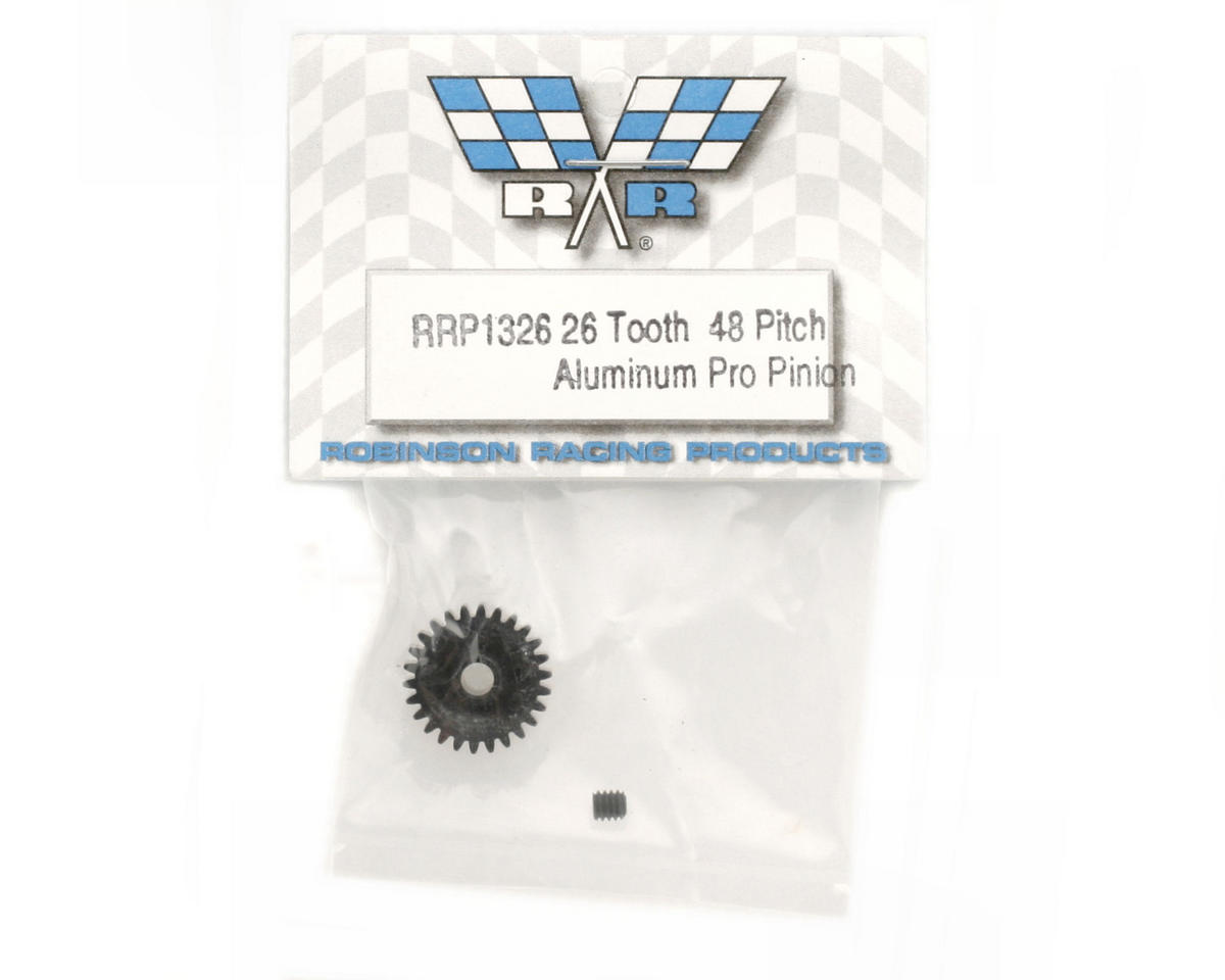 "Robinson Racing ""Aluminum Pro"" 48P Pinion Gear (3.17mm Bore) (26T)"
