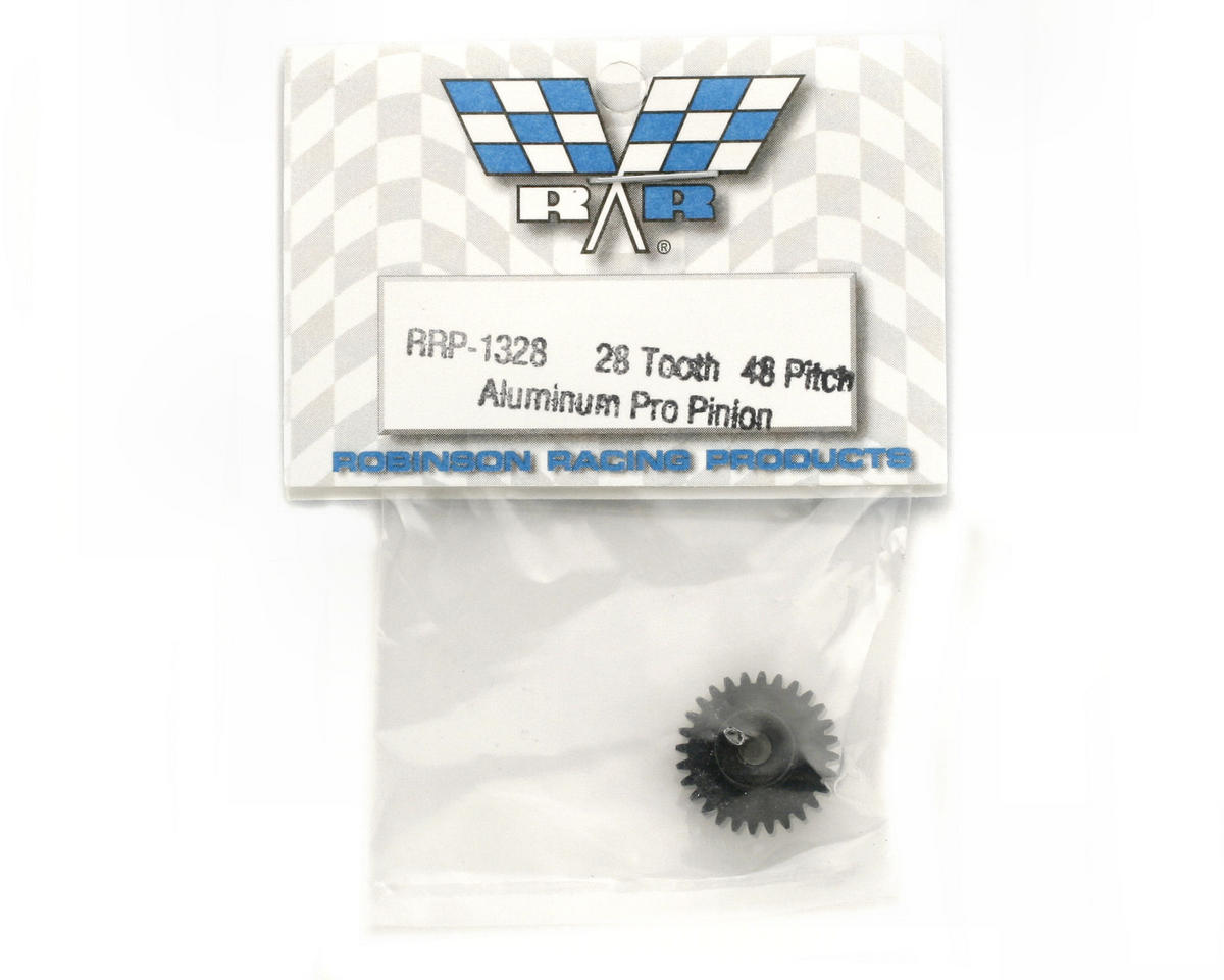 "Robinson Racing ""Aluminum Pro"" 48P Pinion Gear (3.17mm Bore) (28T)"