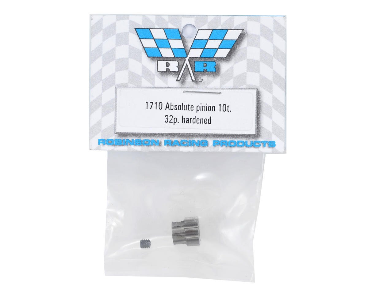 Robinson Racing Absolute 32P Hardened Pinion Gear (10T)