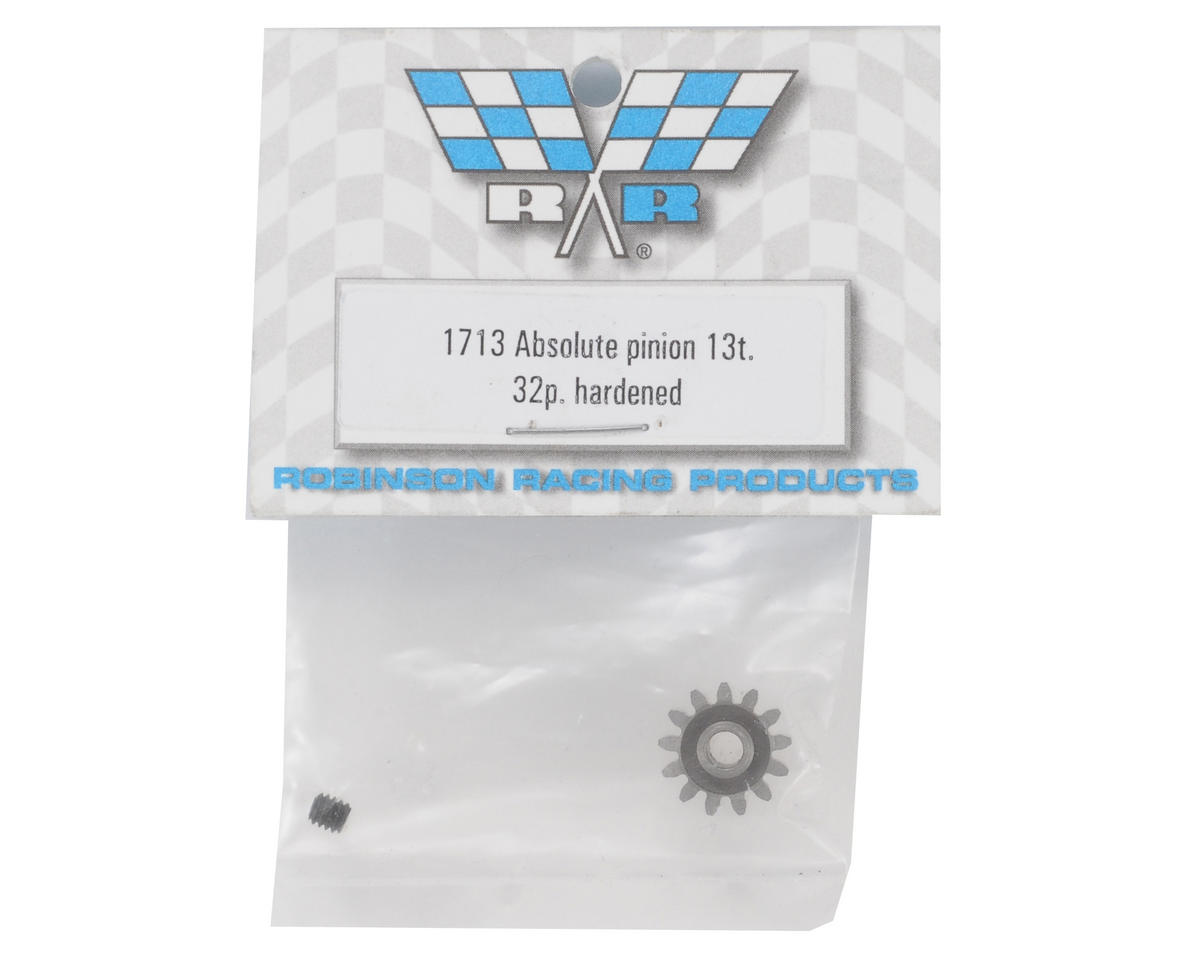 Robinson Racing Absolute 32P Hardened Pinion Gear (13T)