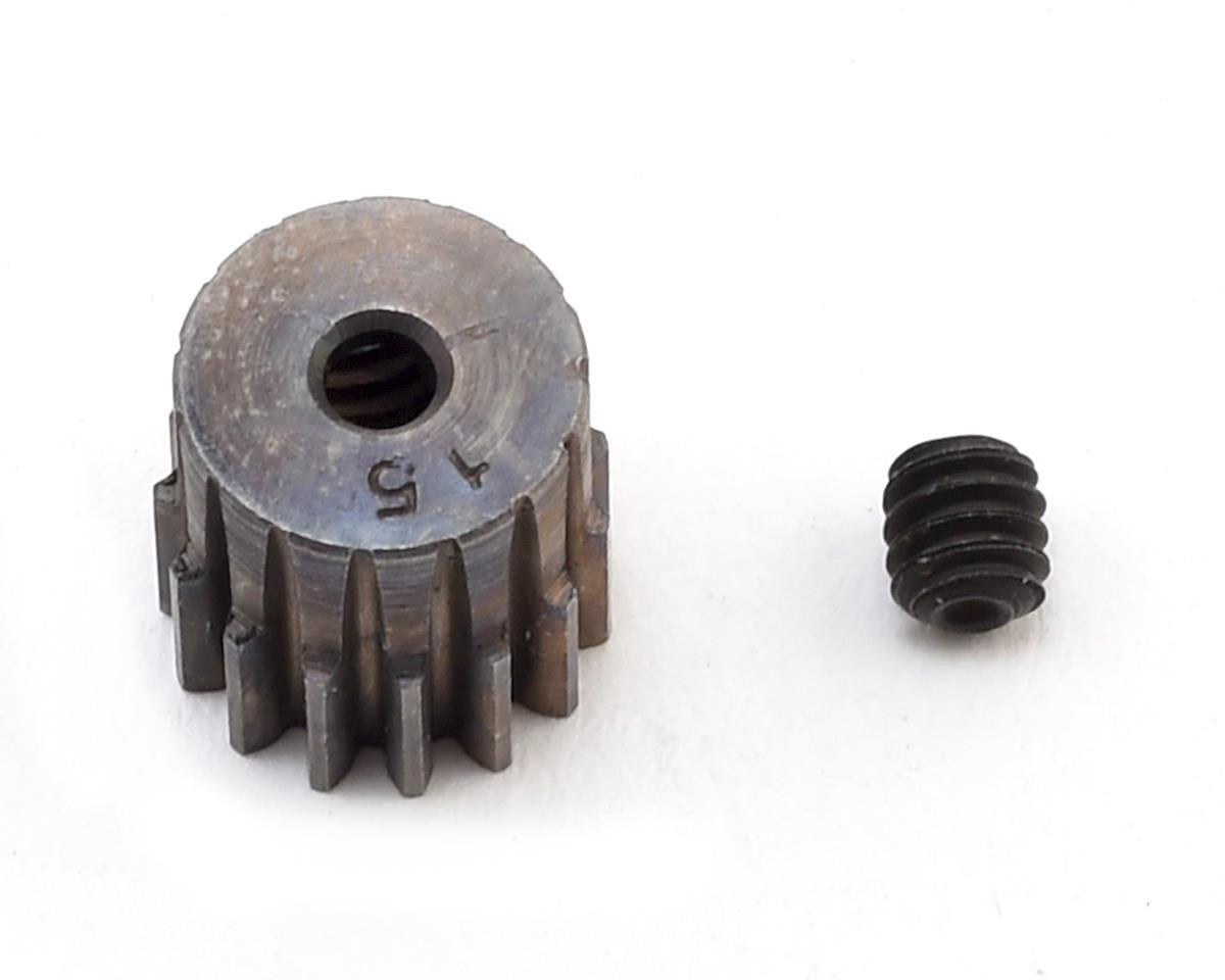 Robinson Racing 0.5 MOD Hard Blackened Steel Mini Pinion Gear (15T) (2mm Bore)