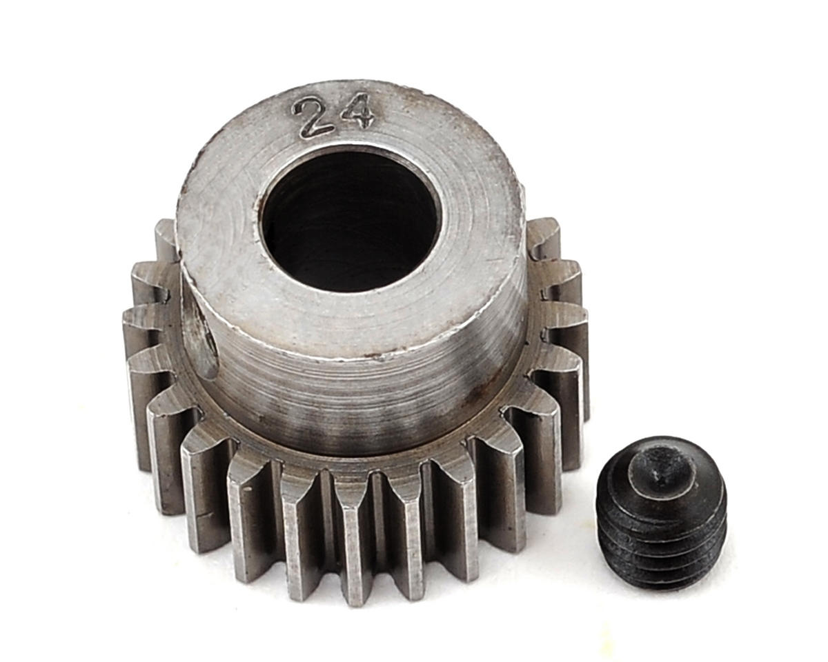 48P Machined Pinion Gear (5mm Bore) (24T) by Robinson Racing