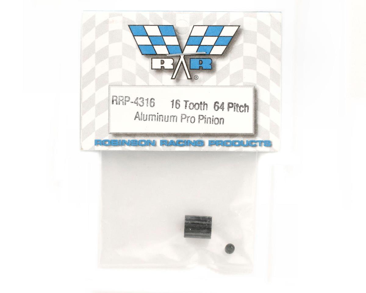 "Robinson Racing ""Aluminum Pro"" 64P Pinion Gear (16T)"