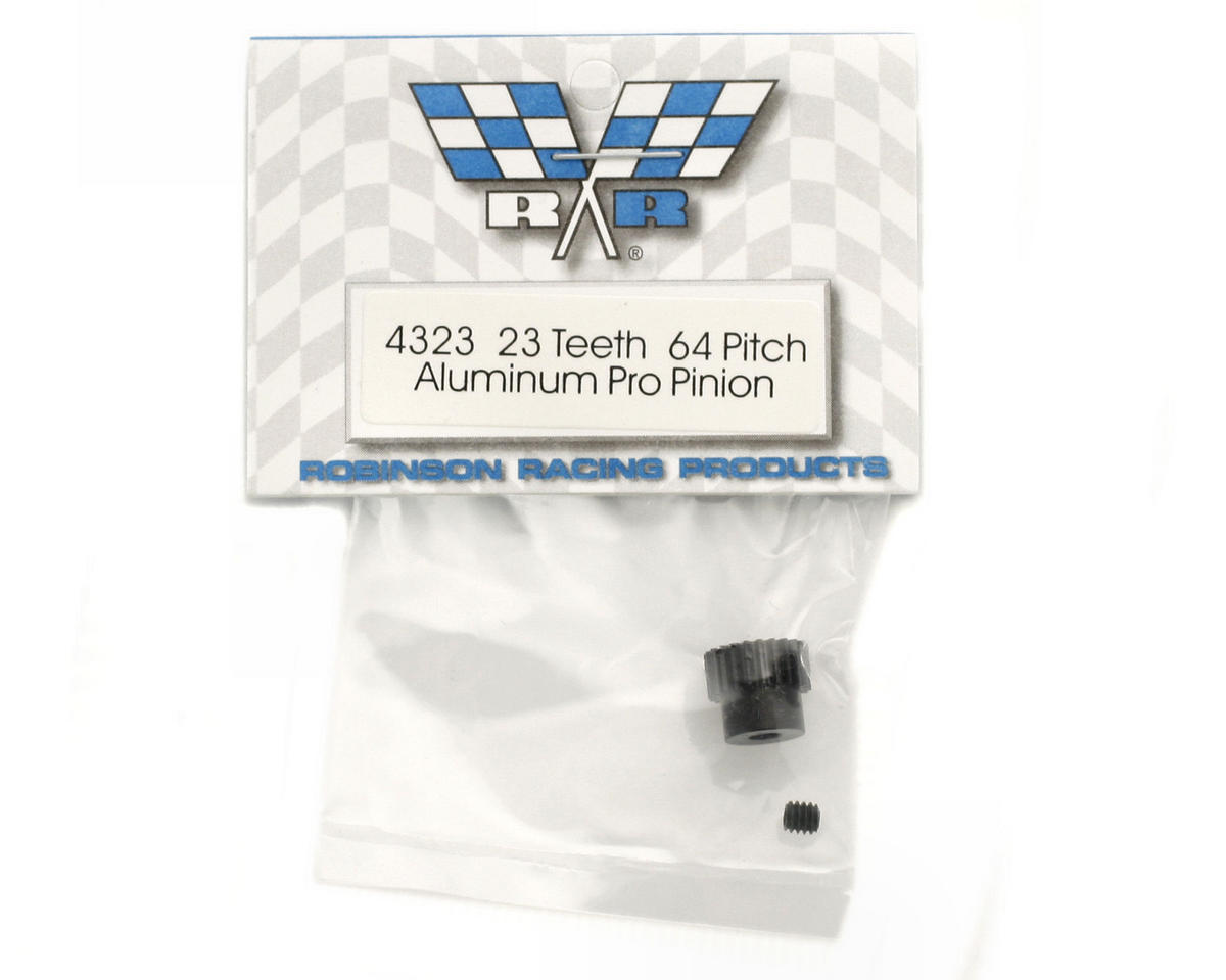 """Aluminum Pro"" 64P Pinion Gear (23T) by Robinson Racing"