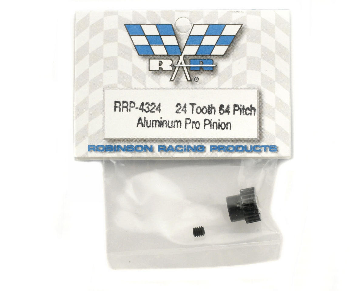 """Aluminum Pro"" 64P Pinion Gear (24T) by Robinson Racing"
