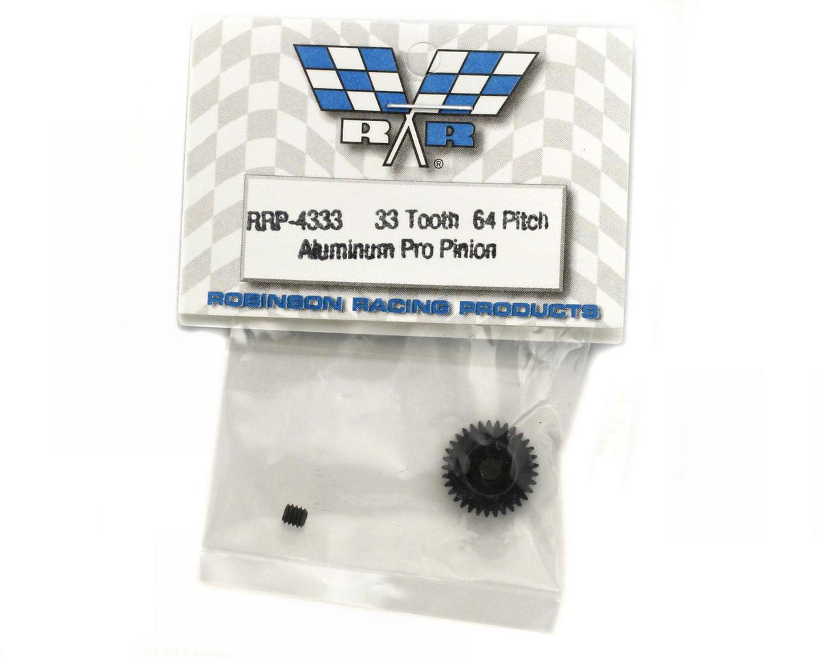 "Robinson Racing ""Aluminum Pro"" 64P Pinion Gear (33T)"