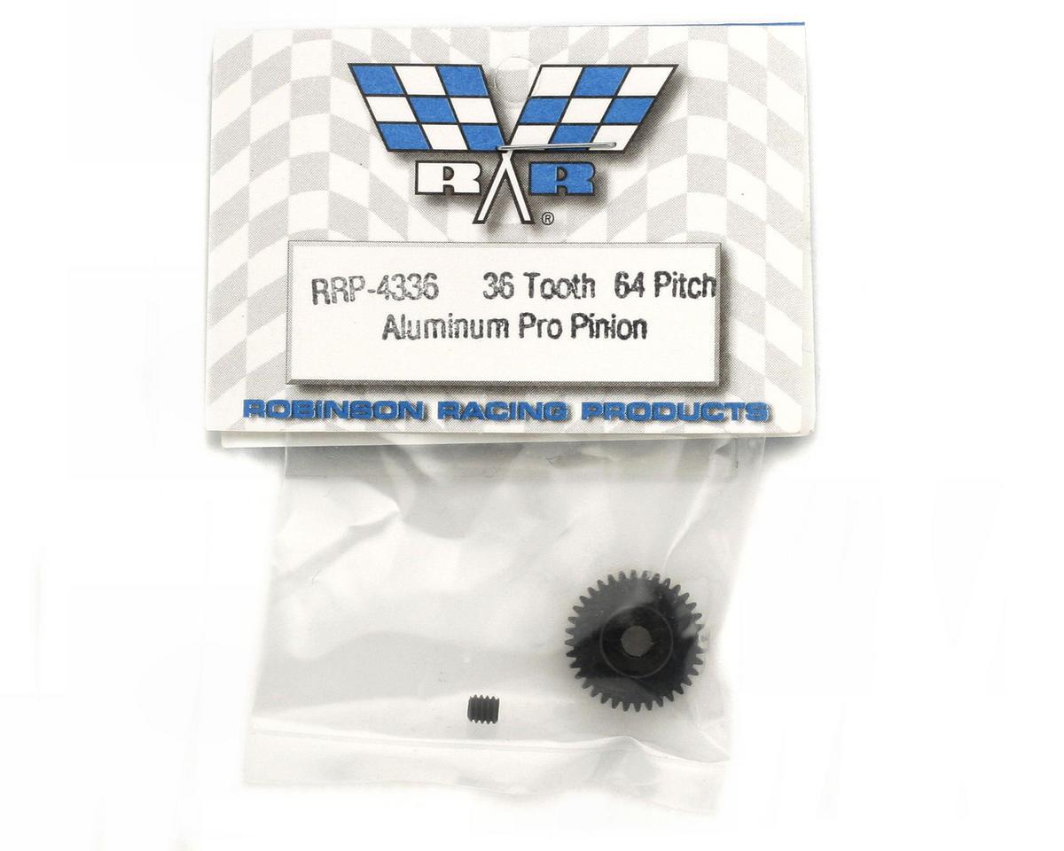 "Image 2 for Robinson Racing ""Aluminum Pro"" 64P Pinion Gear (36T)"