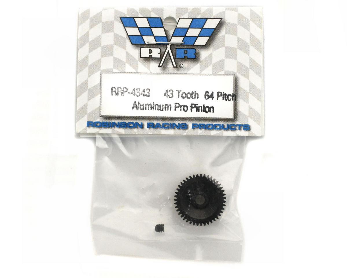 "Robinson Racing ""Aluminum Pro"" 64P Pinion Gear (43T)"