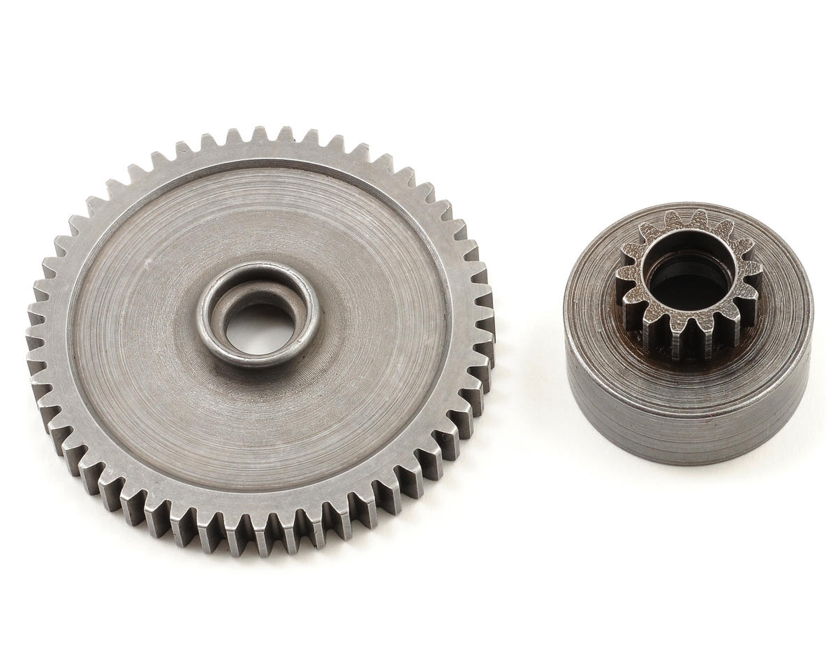 Mod 1 Hard Steel Clutch Bell/Spur Gear Combo (52T/14T)