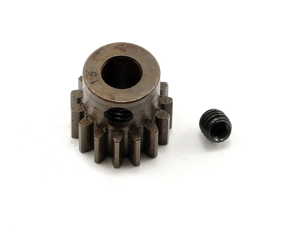 Extra Hard Steel .8 Mod Pinion Gear w/5mm Bore (15T) by Robinson Racing
