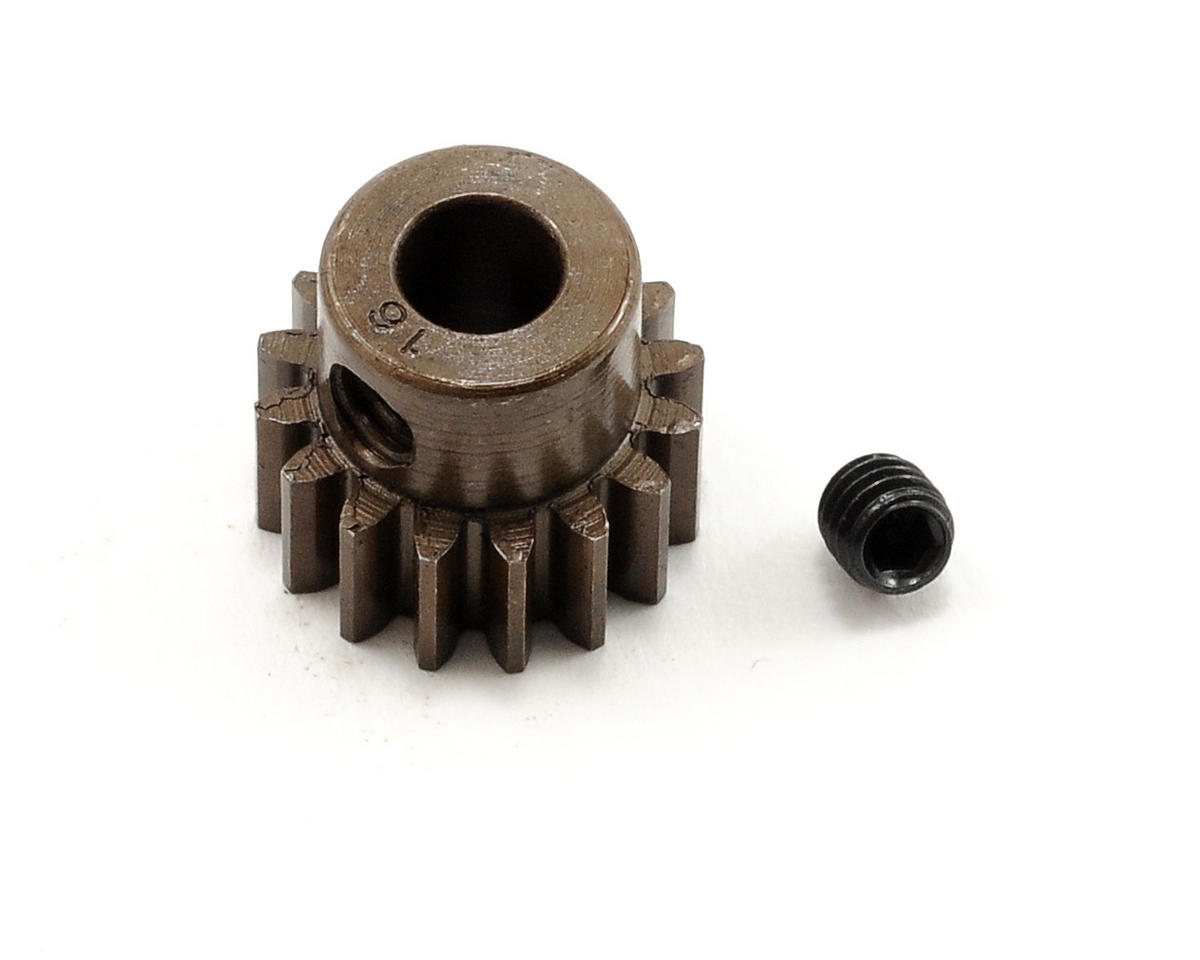 Robinson Racing Extra Hard Steel .8 Mod Pinion Gear w/5mm Bore (16T)
