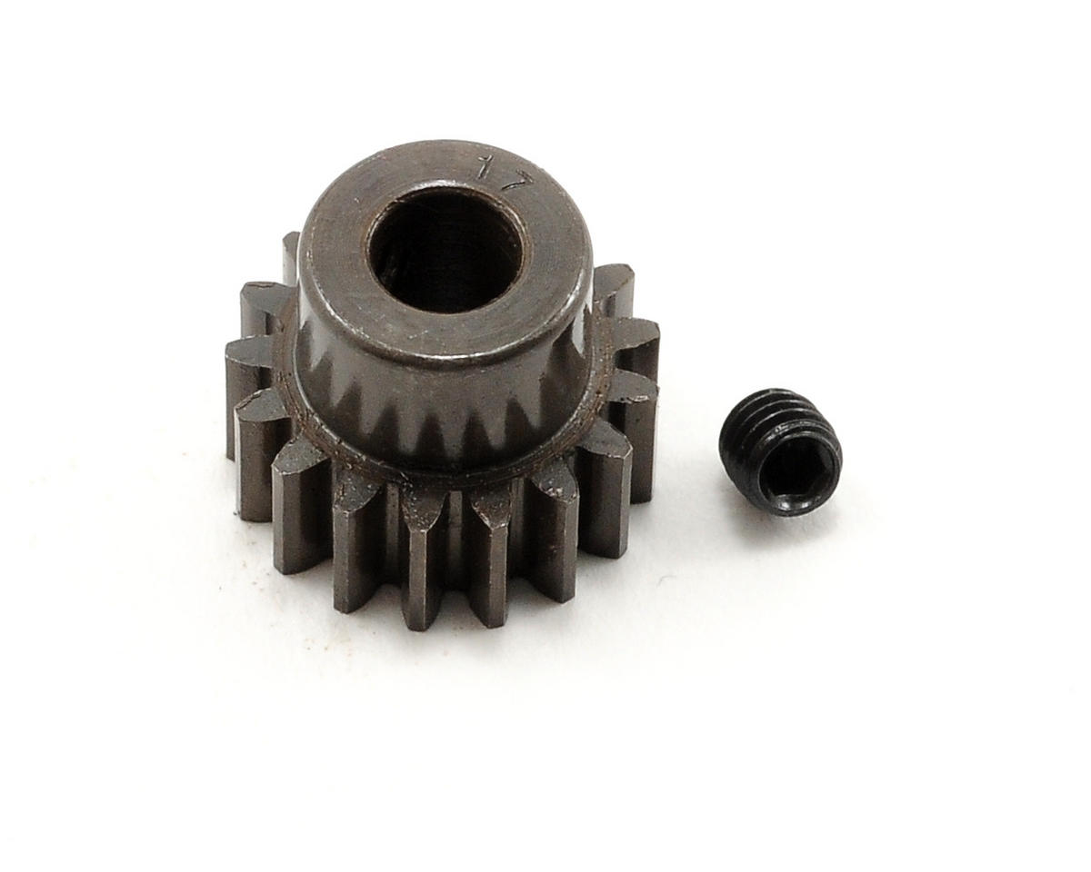 Extra Hard Steel .8 Mod Pinion Gear w/5mm Bore (17T) by Robinson Racing