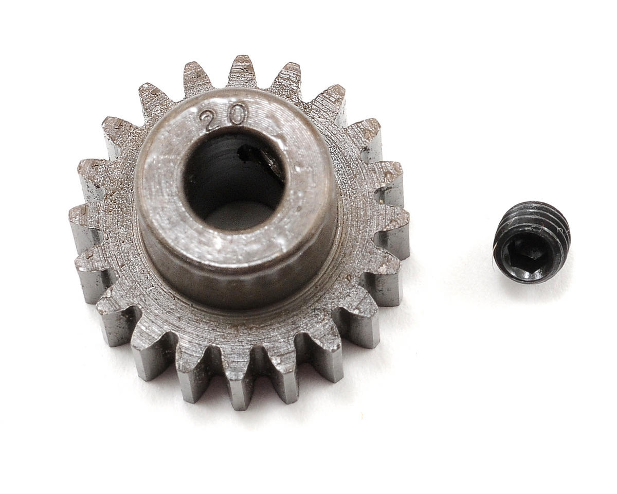 Extra Hard Steel .8 Mod Pinion Gear w/5mm Bore (20T) by Robinson Racing