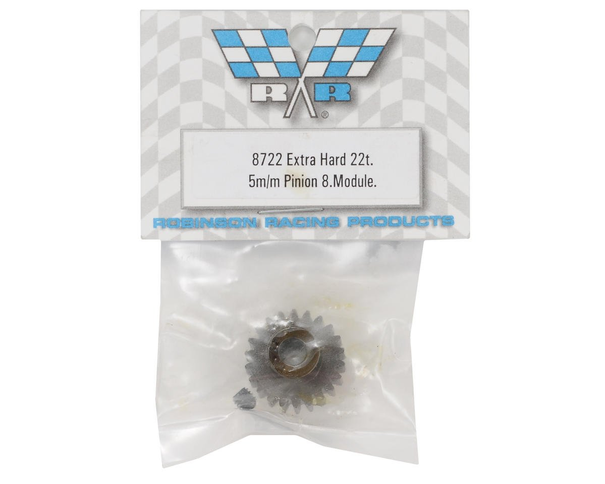 Robinson Racing Extra Hard Steel .8 Mod Pinion Gear w/5mm Bore (22T)