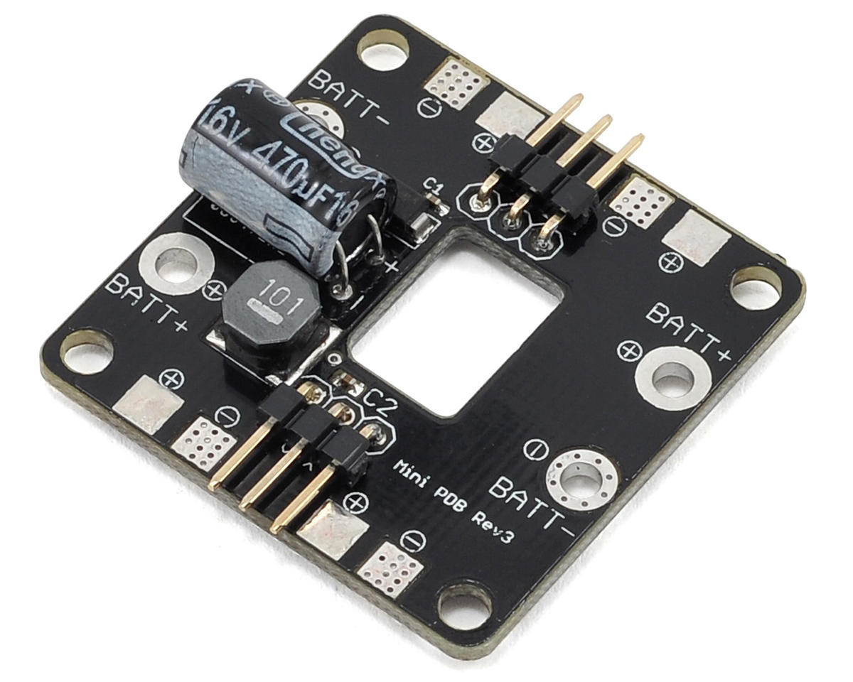 Red Rotor Mini ESC Power Distribution Board w/Power Filter (Rev.3) (R-Squared Innovations Nemesis 240 Mini)