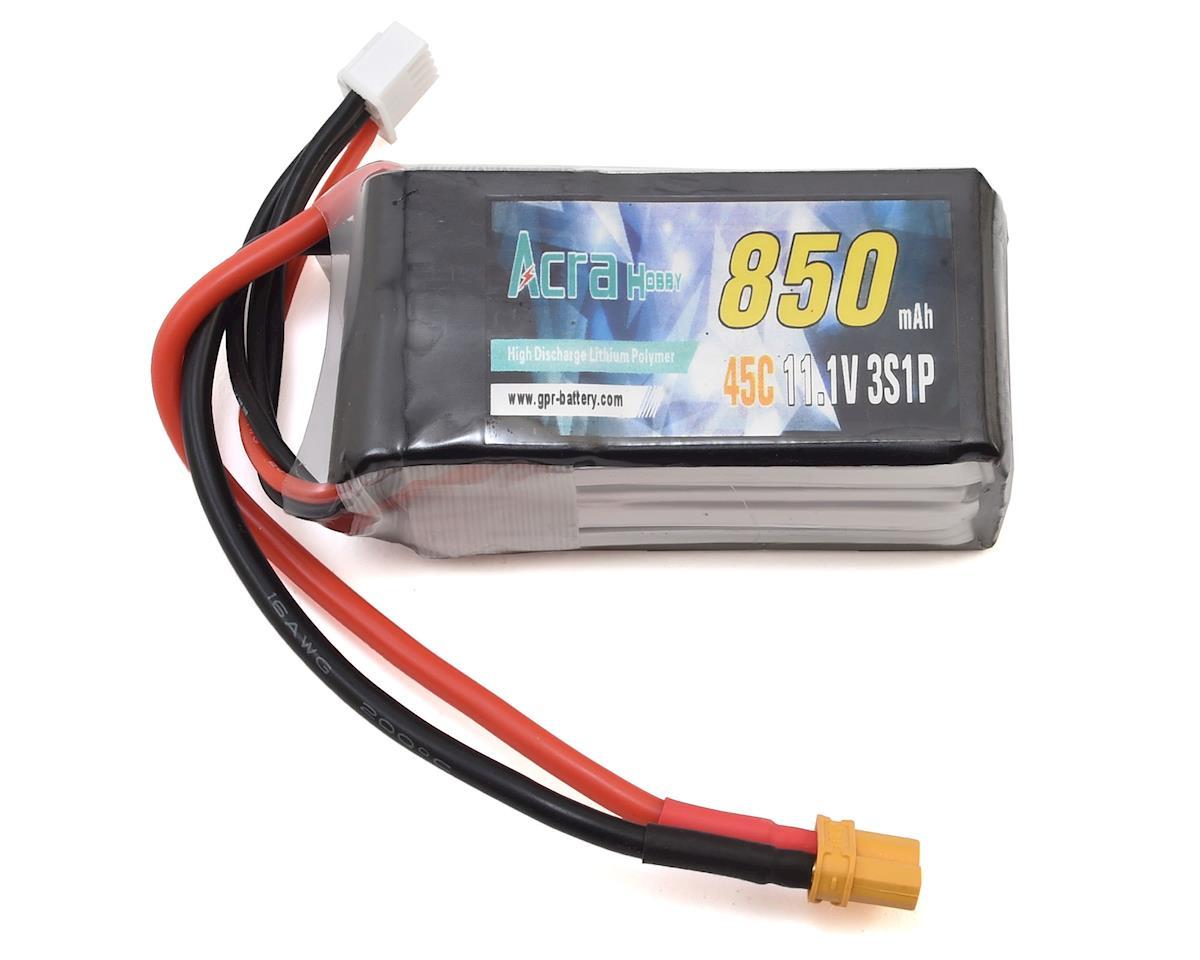 RaceTek GPR 3S 45C LiPo Battery (11.1V/850mAh)