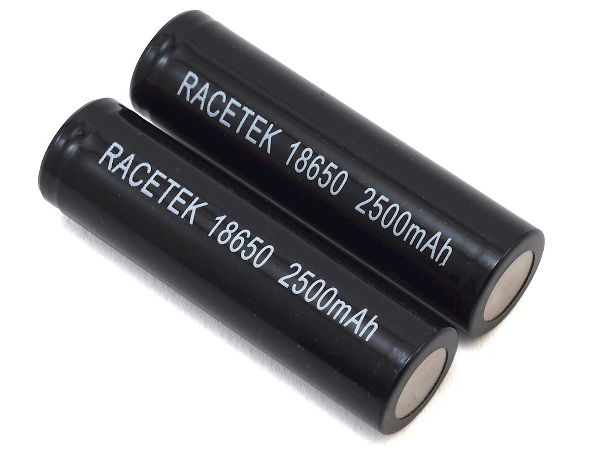 18650 Li-Ion Battery (2) (3.7V/2500mAh) by RaceTek