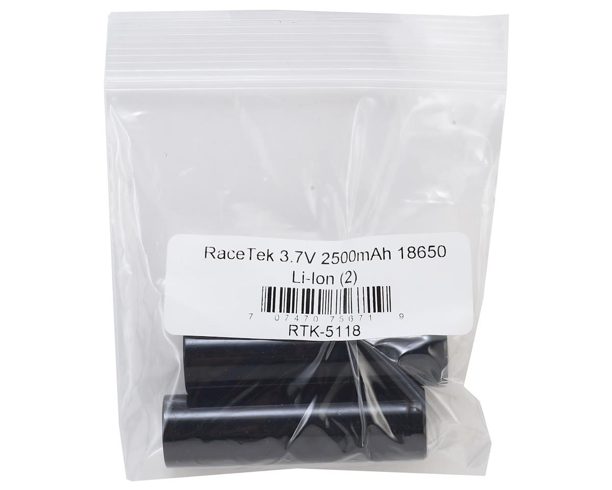 RaceTek 18650 Li-Ion Battery (2) (3.7V/2500mAh)