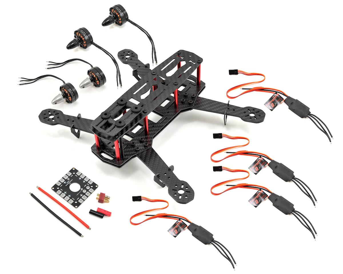 RaceTek Carbon H250 Mini Quad Drone Combo Kit