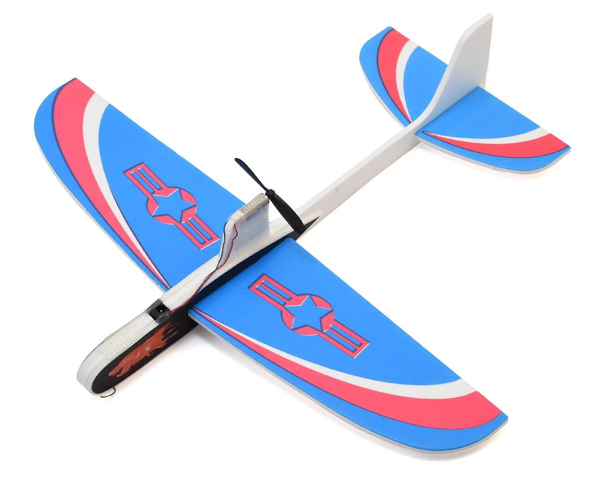 RaceTek Free Flight DIY Capacitor Powered Airplane Kit (Blue)
