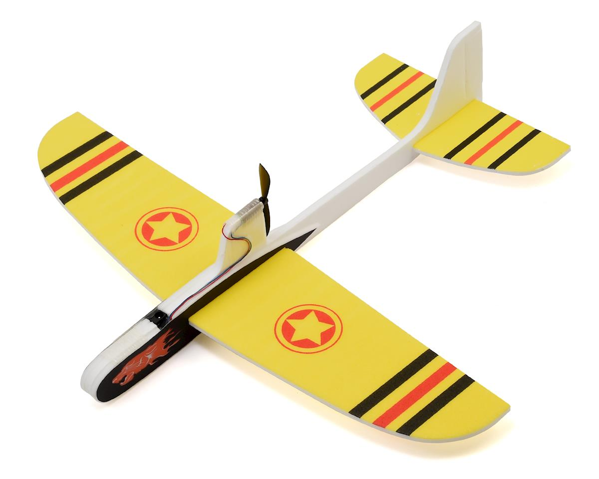 Free Flight DIY Capacitor Powered Airplane Kit (Yellow) by RaceTek