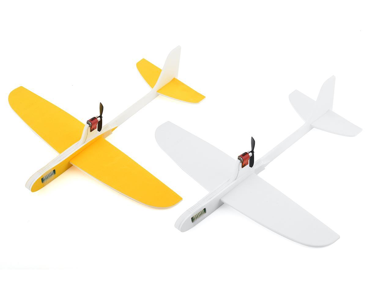 RaceTek Free Flight DIY Capacitor Powered Airplane Kit (Assorted Colors)