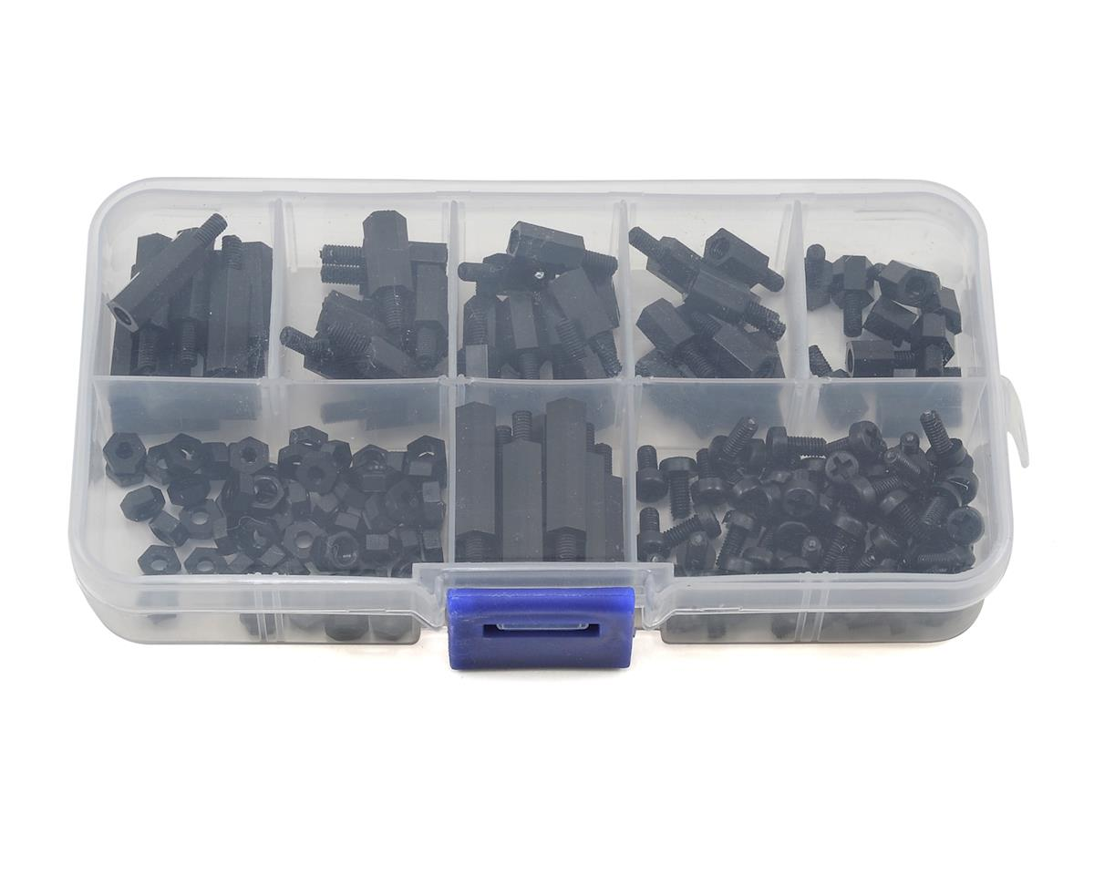 RaceTek M3 Assorted Nylon Hardware Kit (Black) (180) (Male-Female)