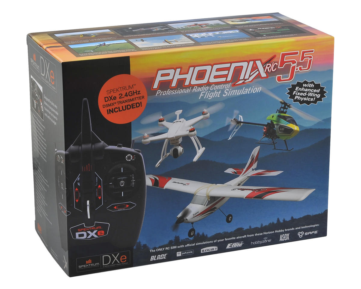 Runtime Games Phoenix R/C Pro Simulator V5.5 w/DXE Transmitter