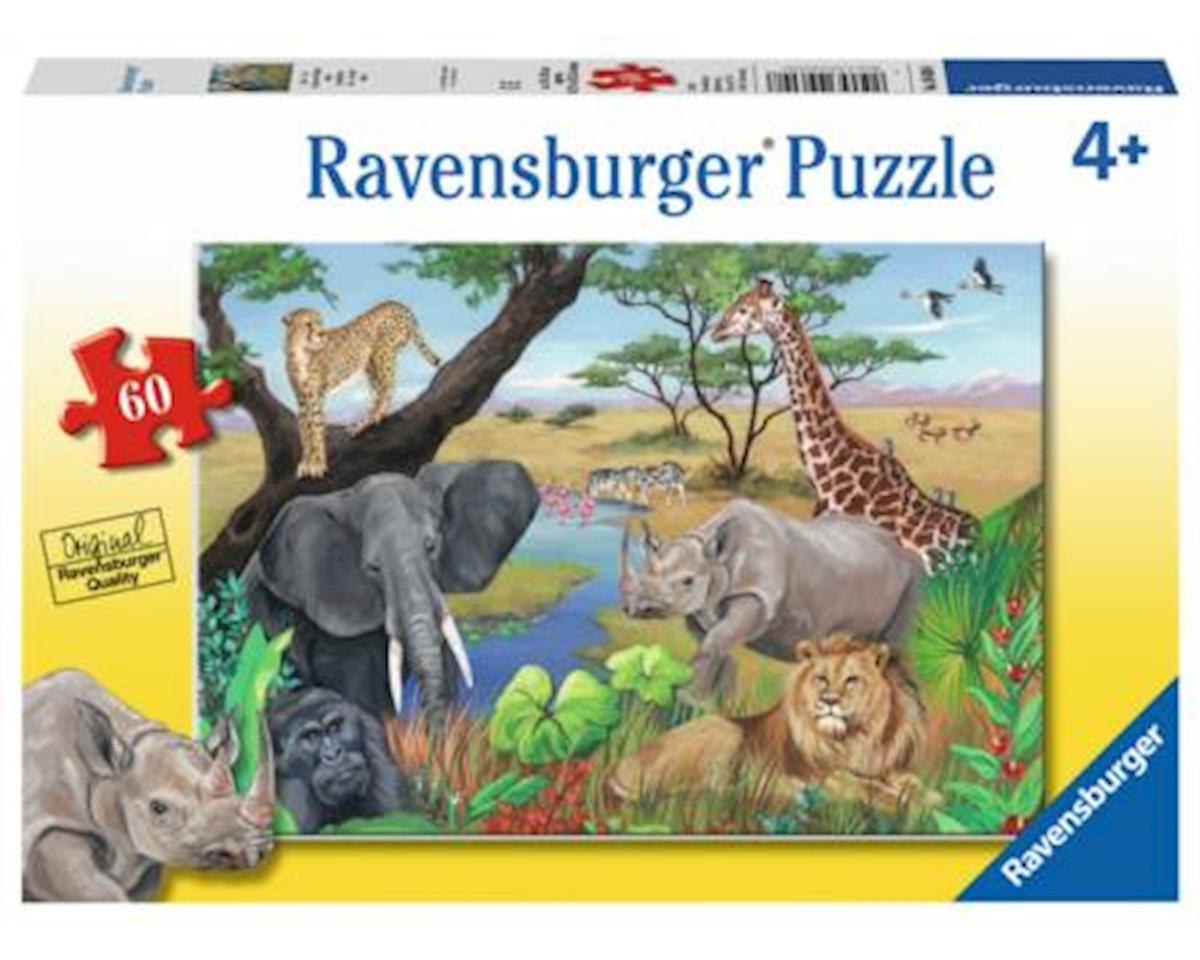 09600 - Safari Animals Jigsaw Puzzles (60 Piece)