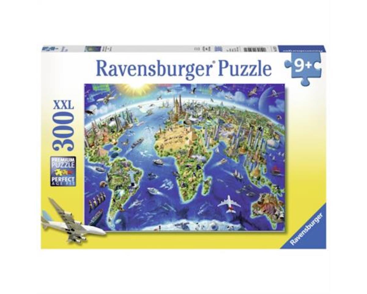 -World Landmarks Map - 300 pc Puzzle
