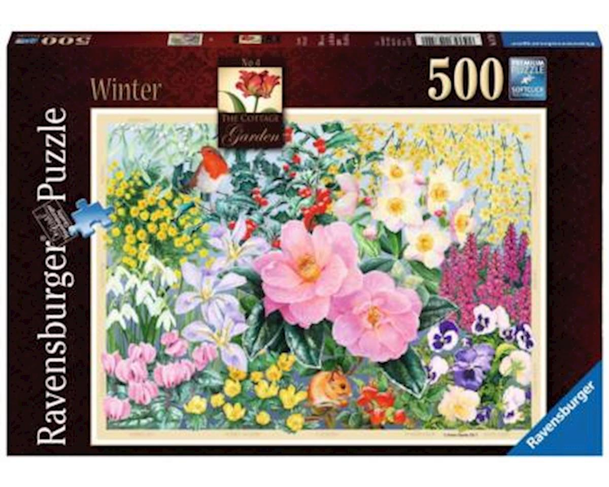 Ravensburger -The Cottage Garden - Winter - 500 pc Puzzle