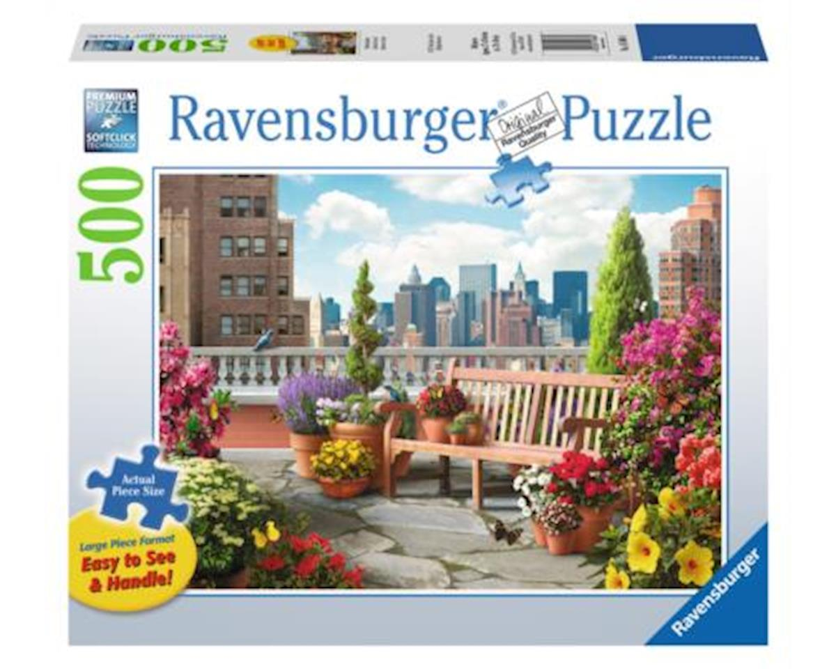 Ravensburger - F.x. Schmid Ravensburger Usa  Rooftop Garden 500Pc Puzzle Large Format