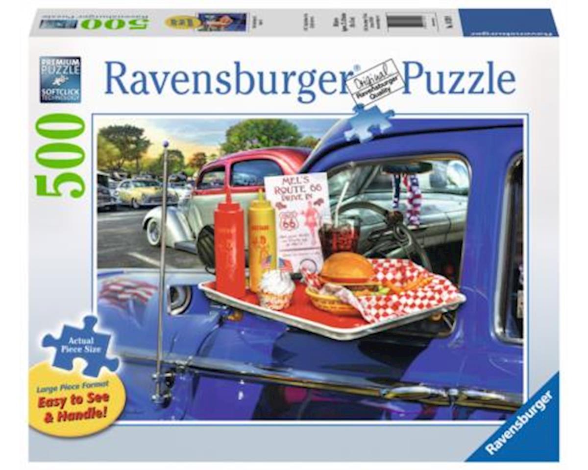 -Drive-Thru Route 66 - 500 pc Large Format Puzzle