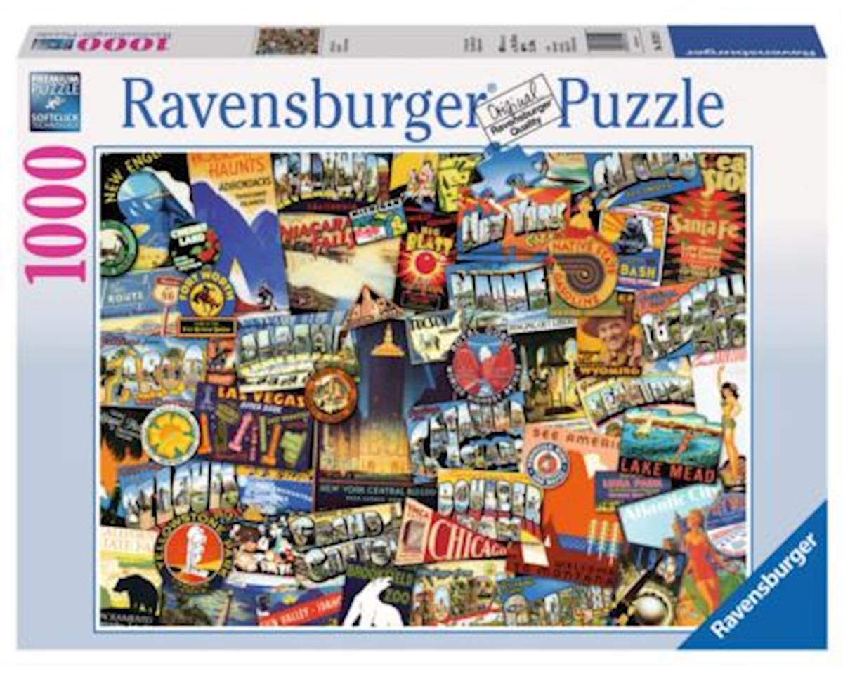 Ravensburger Road Trip USA 1000 pc