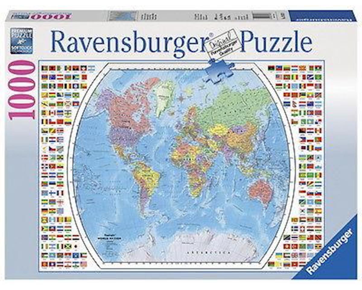 1000Puz Political World Map by Ravensburger - F.x. Schmid