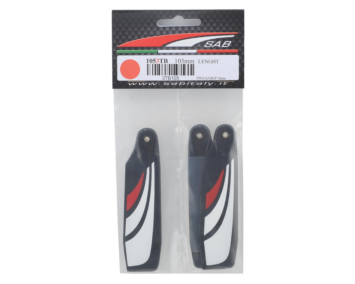 SAB 105mm Thunderbolt Carbon Fiber Tail Blade Set (3-Blade)