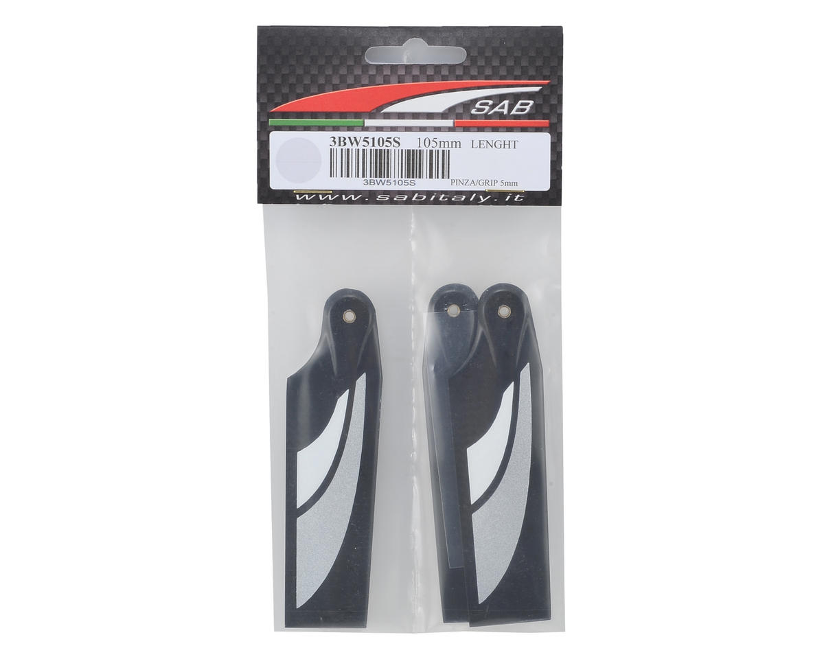 SAB 105mm Carbon Fiber Tail Blade Set (Silver) (3)