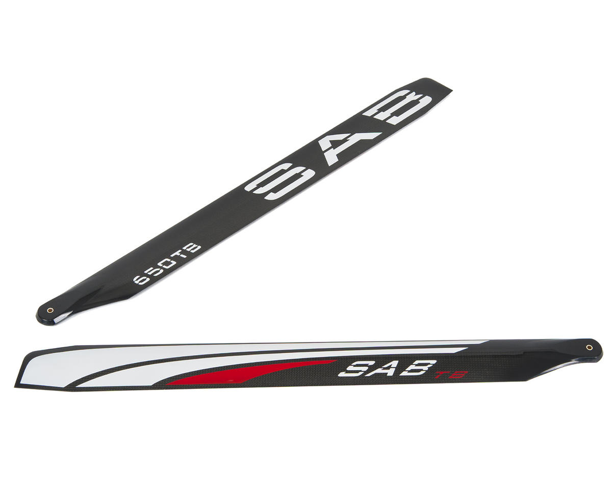 SAB Goblin Black Nitro 650mm Thunderbolt Carbon Fiber Main Blade Set