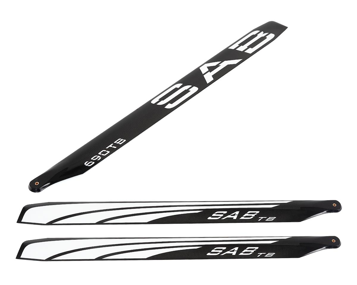 SAB Goblin 690mm Thunderbolt TBS Carbon Fiber Main Blade Set (3)