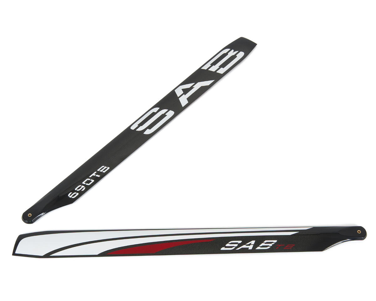 SAB 690mm Thunderbolt Carbon Fiber Main Blade Set (Synergy E7)