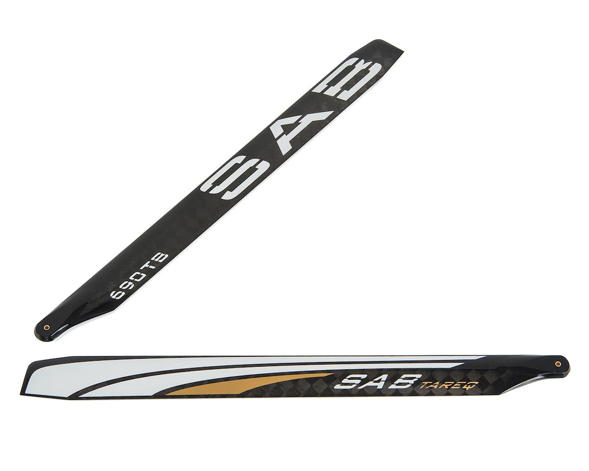 "SAB Goblin 690mm Thunderbolt ""T Line"" Carbon Fiber Main Blade Set (Tareq Gold Edition)"