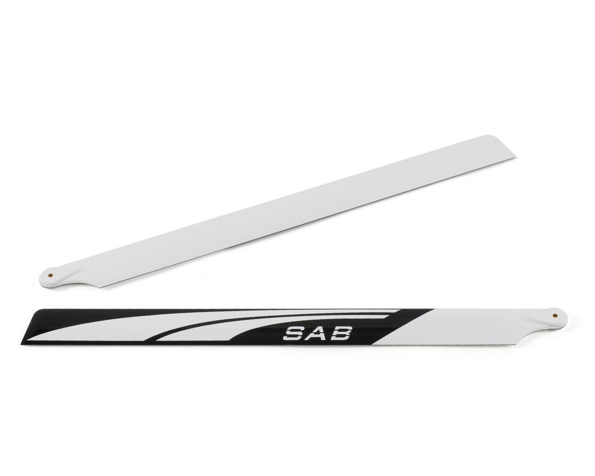 SAB Goblin 500mm Carbon Fiber Main Blades (Black/White)