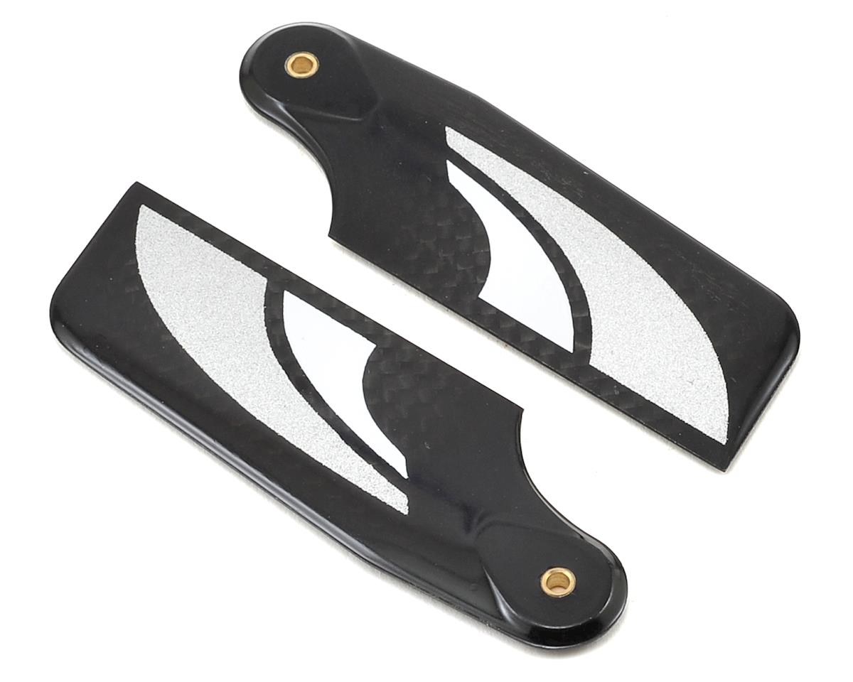 SAB Goblin 380 70mm Carbon Fiber Tail Blade Set (2) (Silver)
