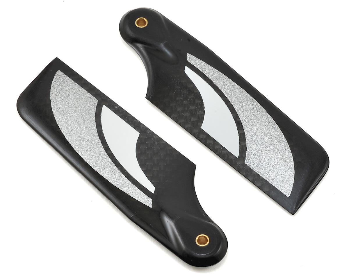 SAB Goblin 500 80mm Carbon Fiber Tail Blade Set (Black/Silver)